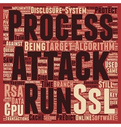 RSA Attack Efficiency Improves text background vector