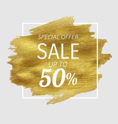 sale golden blot vector image