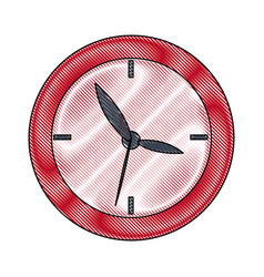 school clock date hour time icon vector image