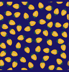 seamless pattern from raspberry vector image