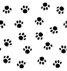 seamless pattern with traces cat vector image