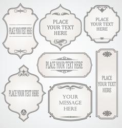Set frames calligraphic design vector