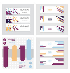 set of abstract corporate business banner vector image