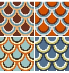 Set of geometric patterns vector