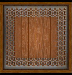 sheet perforation on a wooden vector image