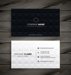 Simple black and white diamond business card vector