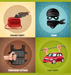 social crime design concept vector image