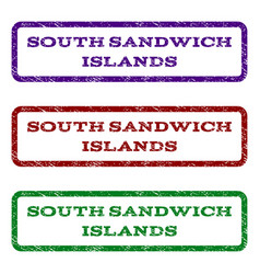 South sandwich islands watermark stamp vector