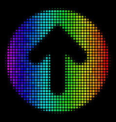 spectrum dot rounded arrow icon vector image