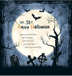 Spooky card for Halloween vector image