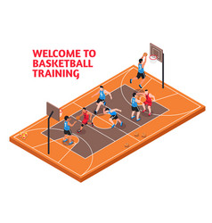 Sport basketball training isometric vector