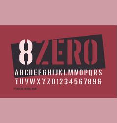 Stenciled bold weight decorative san serif vector
