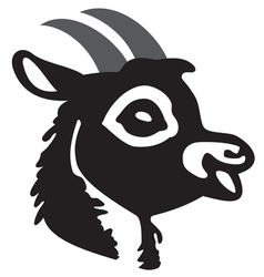 The head of goat vector image