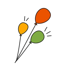 Three of balloons vector