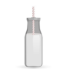 Traditional milk bottle vector
