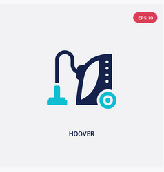 Two color hoover icon from cleaning concept vector