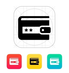 Wallet protection icon vector