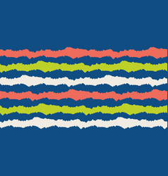 wavy lines seamless border chunky uneven vector image