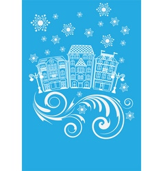 winter street vector image