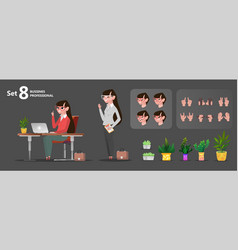 woman office characters set for animation vector image