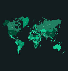 World map quality simplified map vector