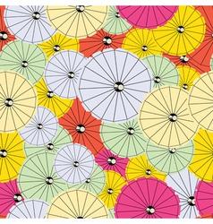 Colorful cocktail umbrellas vector