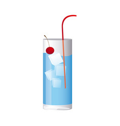 colorful realistic water freshness drink cocktail vector image