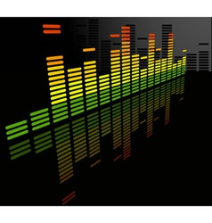 equalizer abstract background vector image vector image