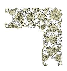 Floral vignette for your design vector image vector image