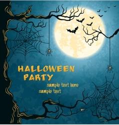 Horror card for Halloween vector image