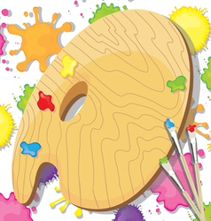 Painting art party invitation vector image vector image