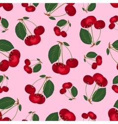 seamless cherry pattern vector image
