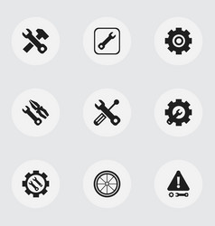 set of 9 editable repair icons includes symbols vector image vector image