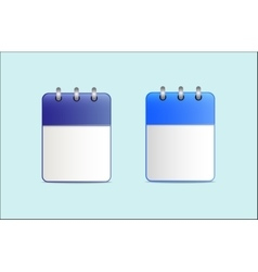 Set of the calendar is blue in two variants vector image vector image