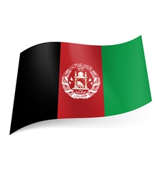 State flag of Afghanistan vector image vector image