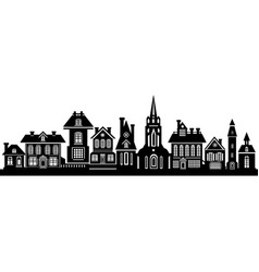 the black silhouette of the city vector image