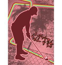 vintage urban grunge golf vector image