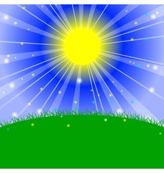 - Morning in the meadow vector image vector image