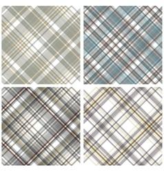 Abstract Tartan Checkered Seamless Pattern Set vector image