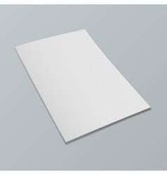 Blank opened magazine mockup template Realistic vector image vector image