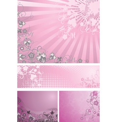 Pink backgrounds collection vector image