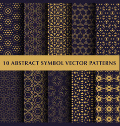set of abstract symbol patterns vector image vector image