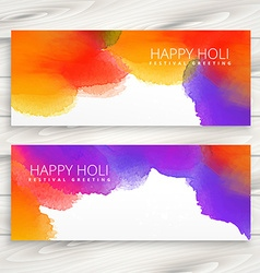 colorful ink banners of holi festival vector image vector image