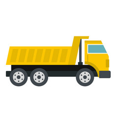 dumper truck icon isolated vector image vector image