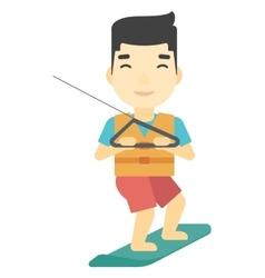 Professional wakeboard sportsman vector image