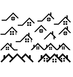 Roof set vector