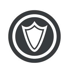 Round black shield sign vector