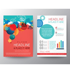 Abstract Circle design Brochure Flyer Layout vector image vector image