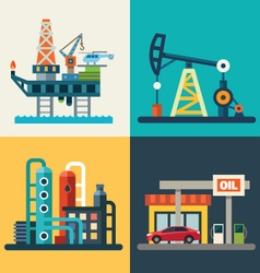 Oil recovery vector image