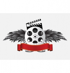 reel with wing vector image vector image